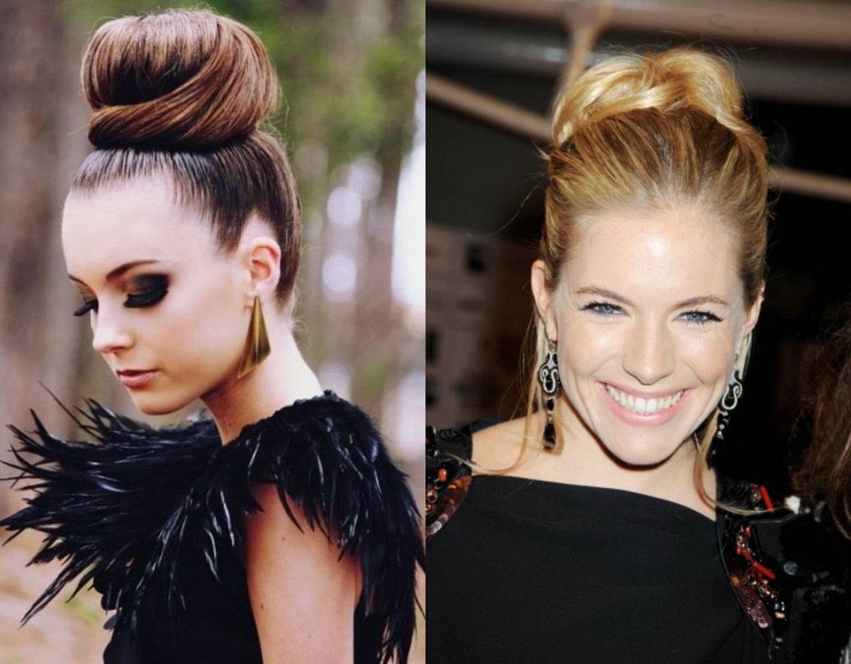 holiday bun hairstyles 2017