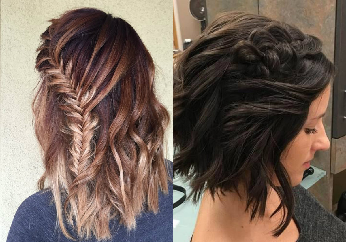messy braids for bob haircuts