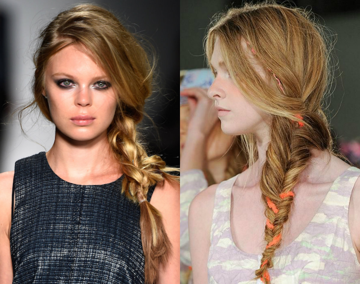messy braids hairstyles from runways 2017