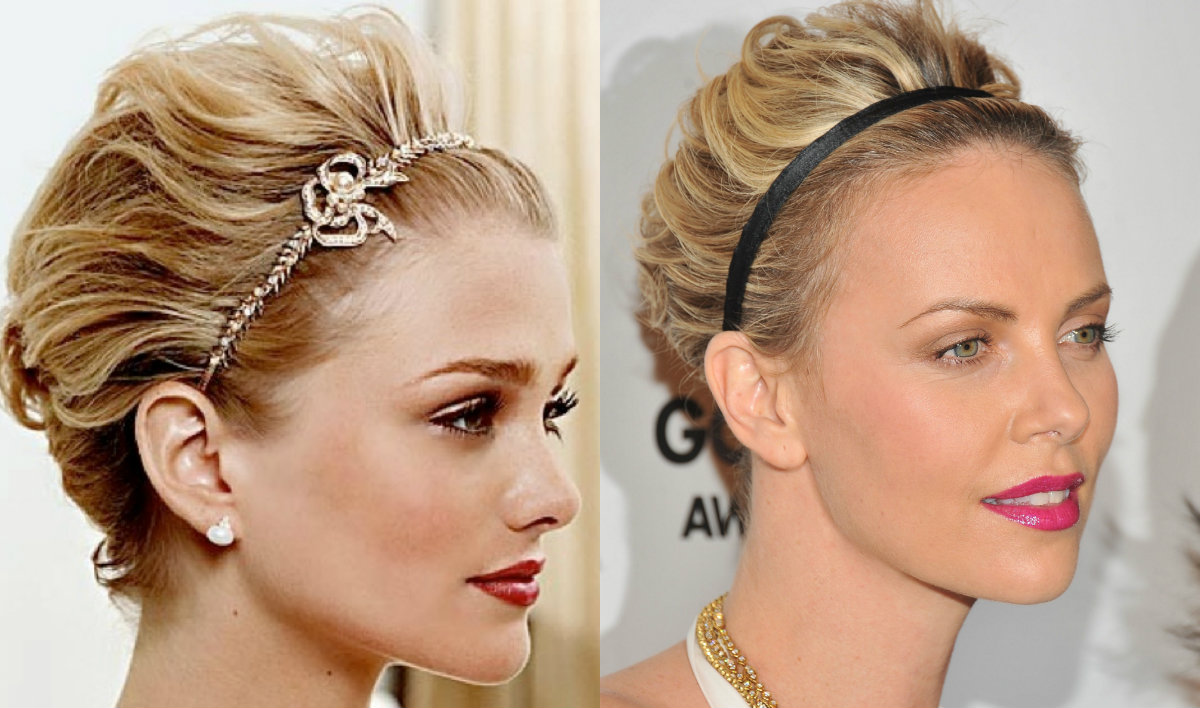 short holiday hairstyles with headbands