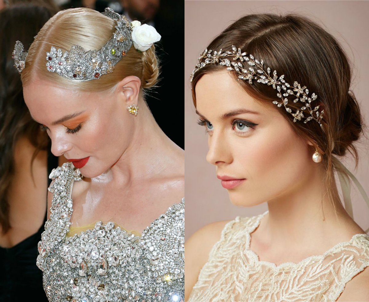 simple wedding hairstyles with jewel hair accessories