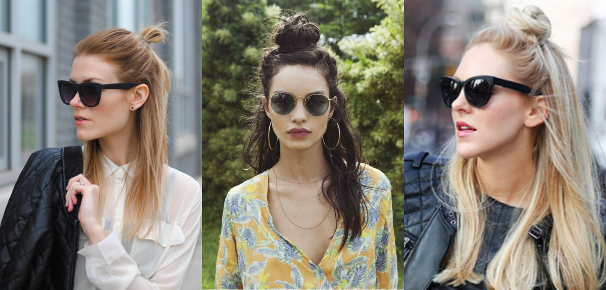 street style half up top knots
