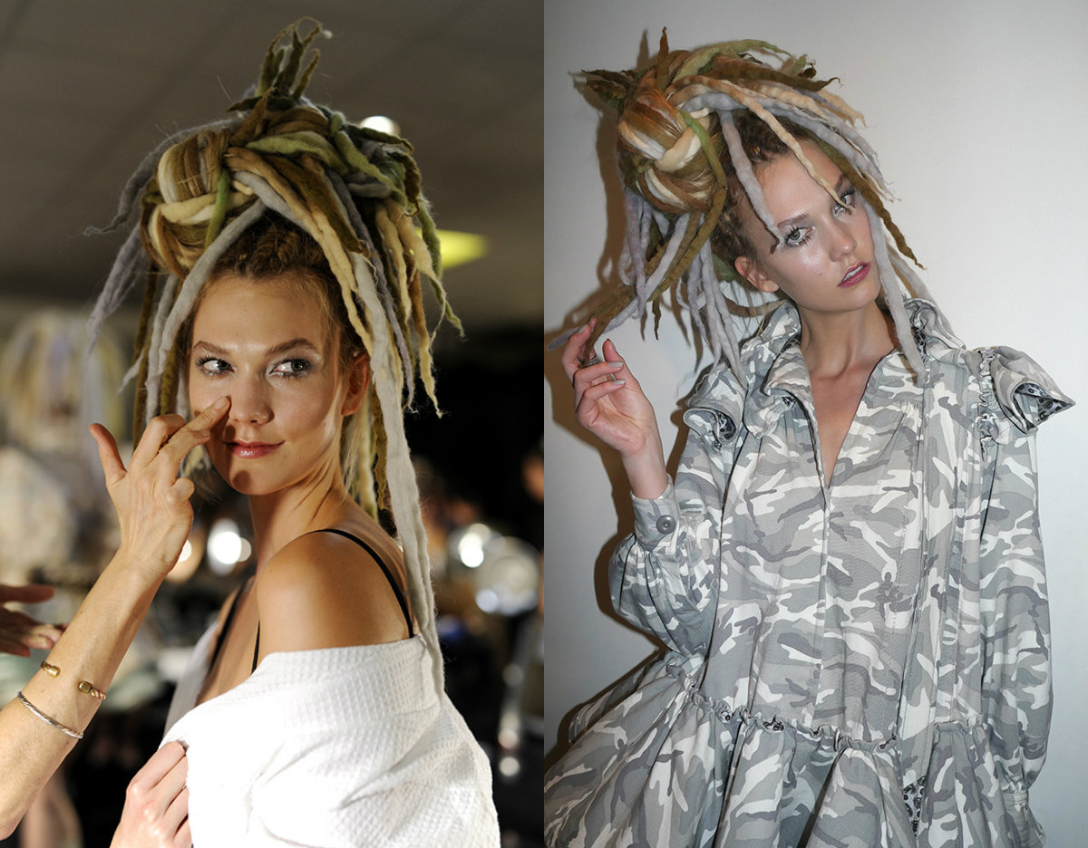 nyfw-karlie-kloss-dreads-hairstyles-2017-spring