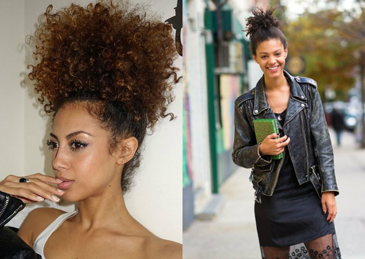 authentic curly hair updos for black women