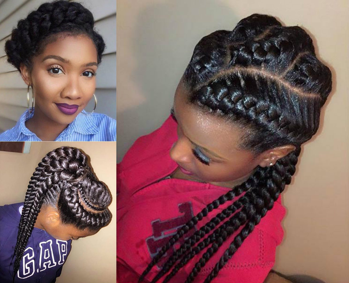 African American Hair Braid Styles: Amazing African Goddess Braids Hairstyles