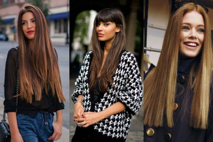 best long straight hairstyles 2017