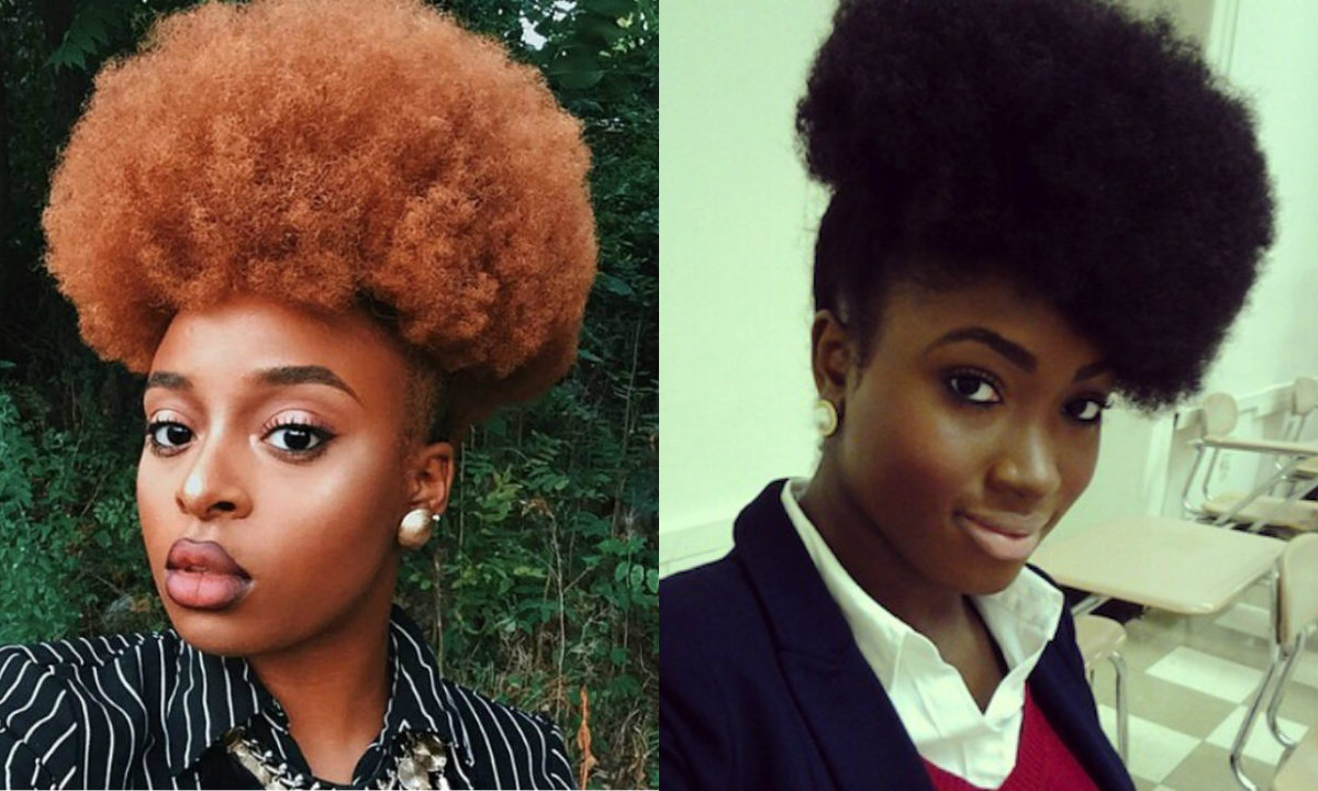 black-women-front-afro-puff-hairstyles