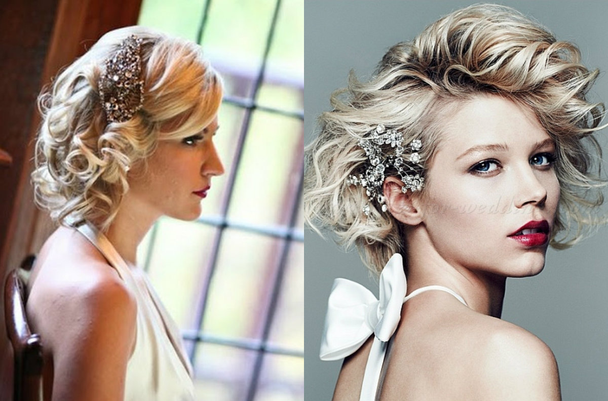 Bob Wedding Hairstyles With Chic Hair Jewels
