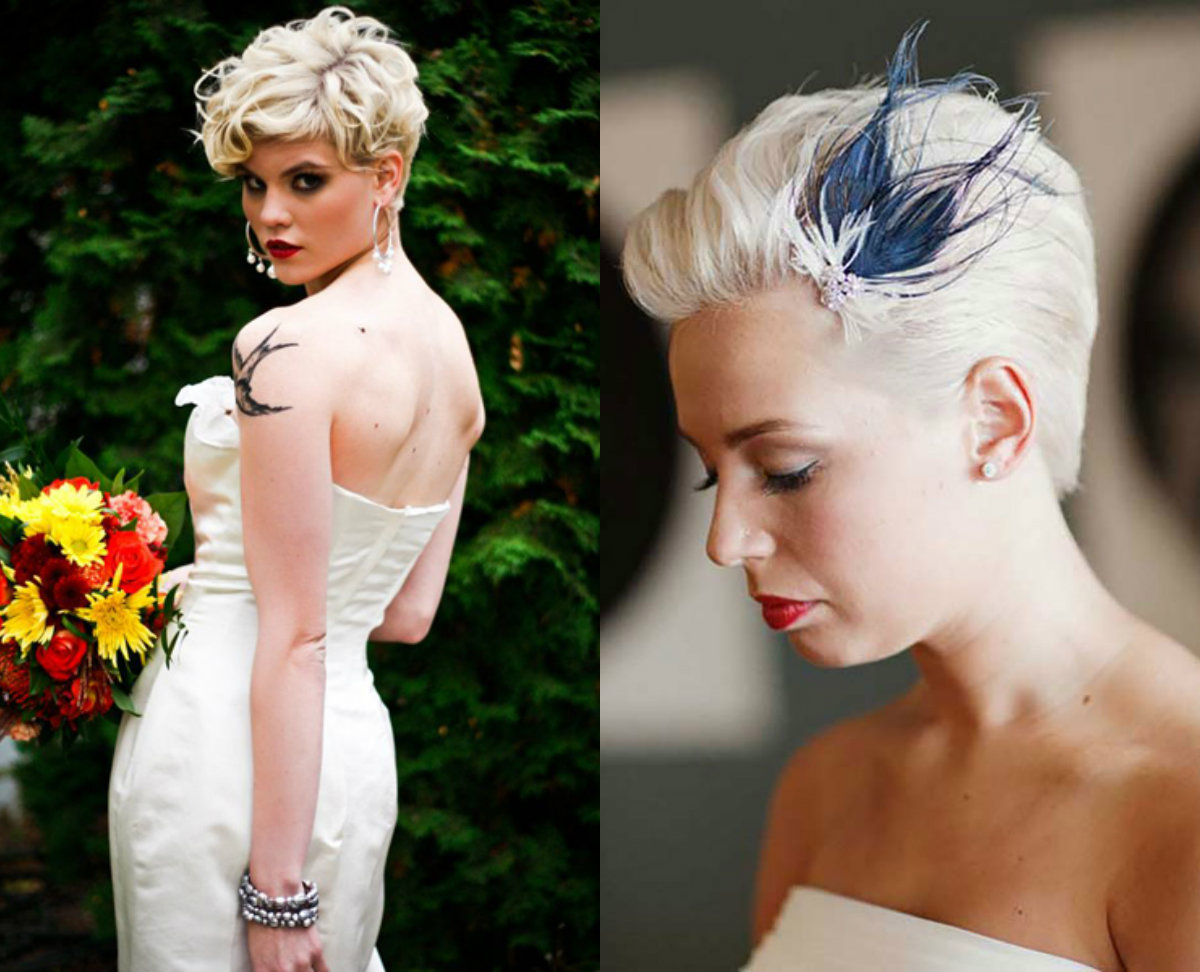 extravagant blonde pixie cuts for wedding