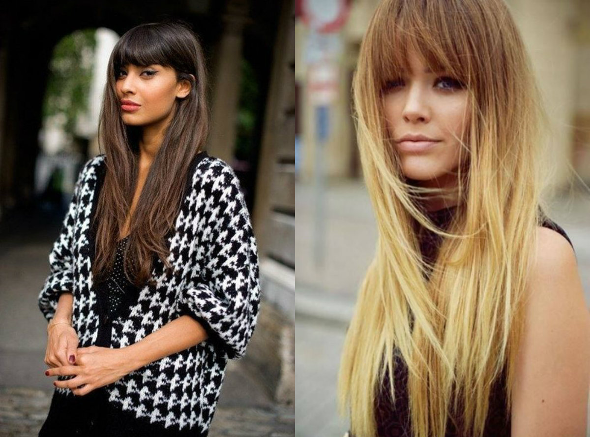 long loose hairstyles with bangs