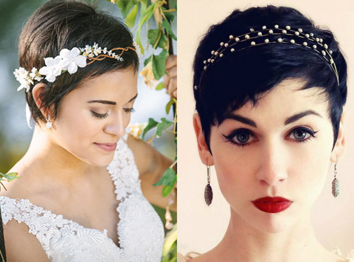 pixie wedding hairstyles 2017