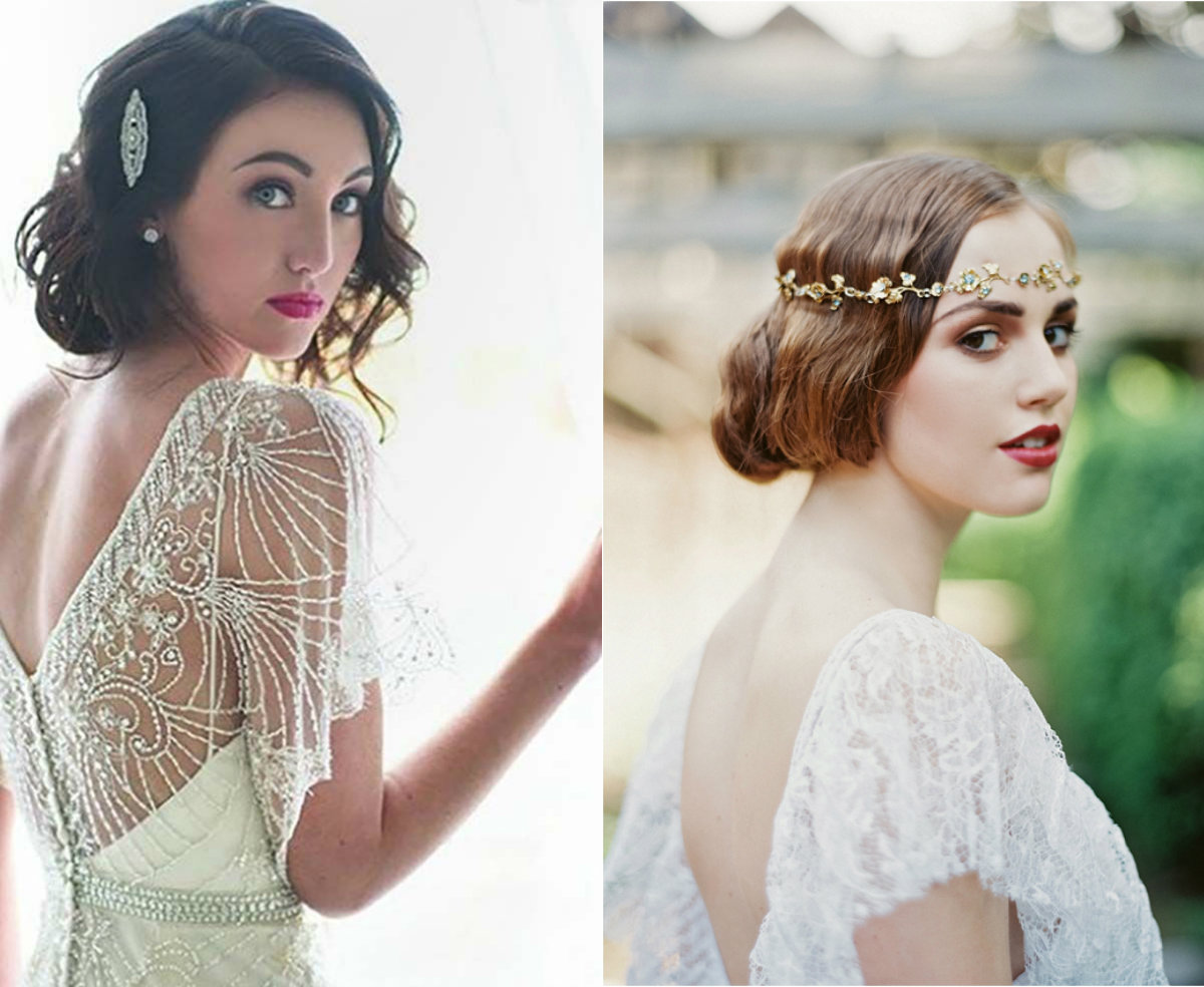 Vintage Wedding Bob Hairstyles 2017