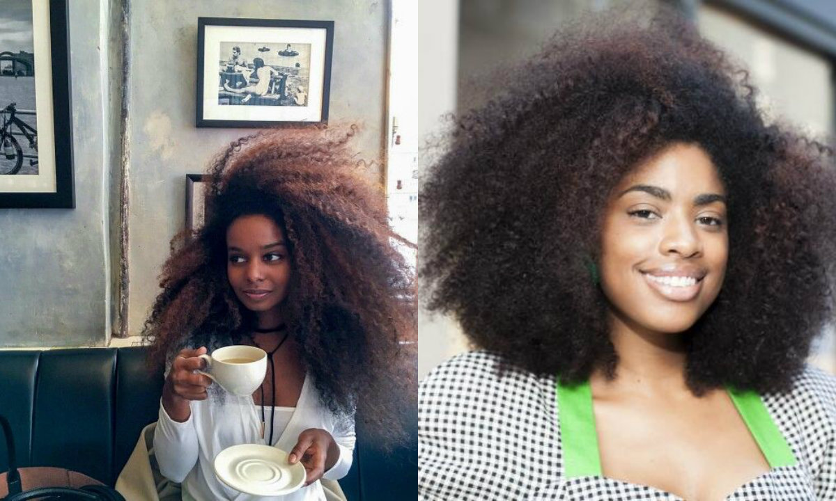 voluminous natural curls for African-American women