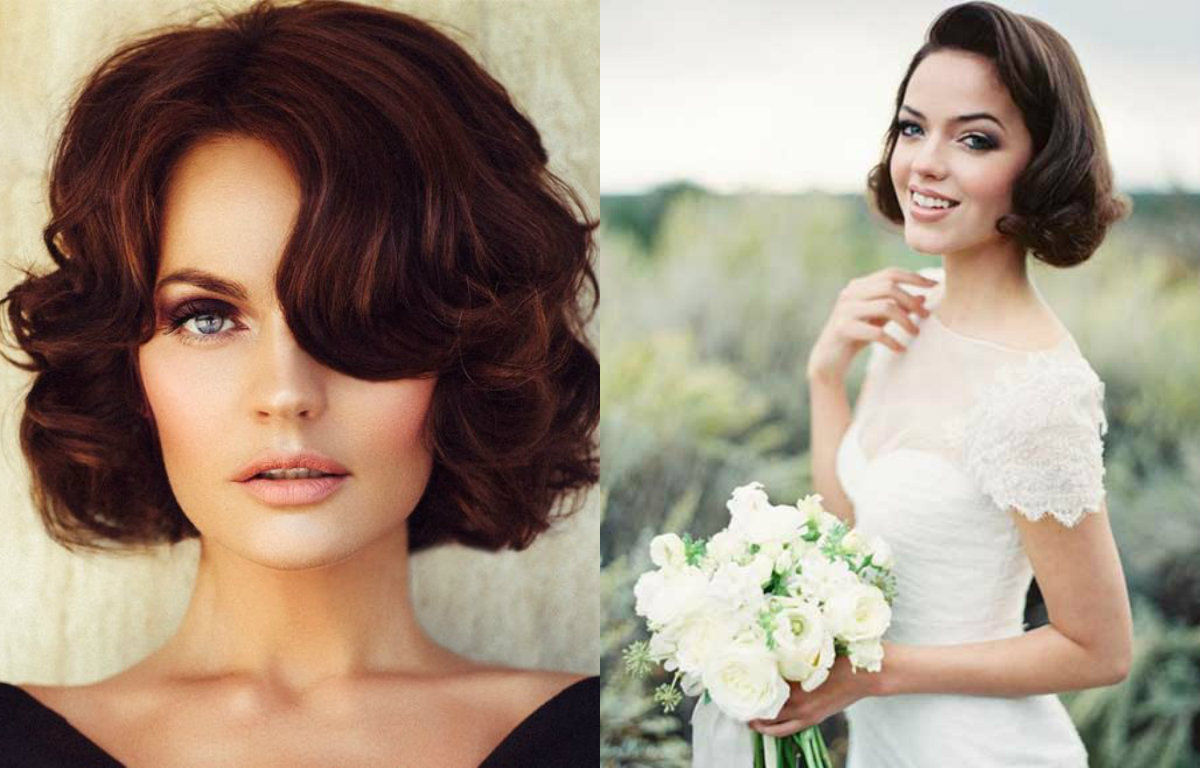 wedding wavy bob hairstyles 2017