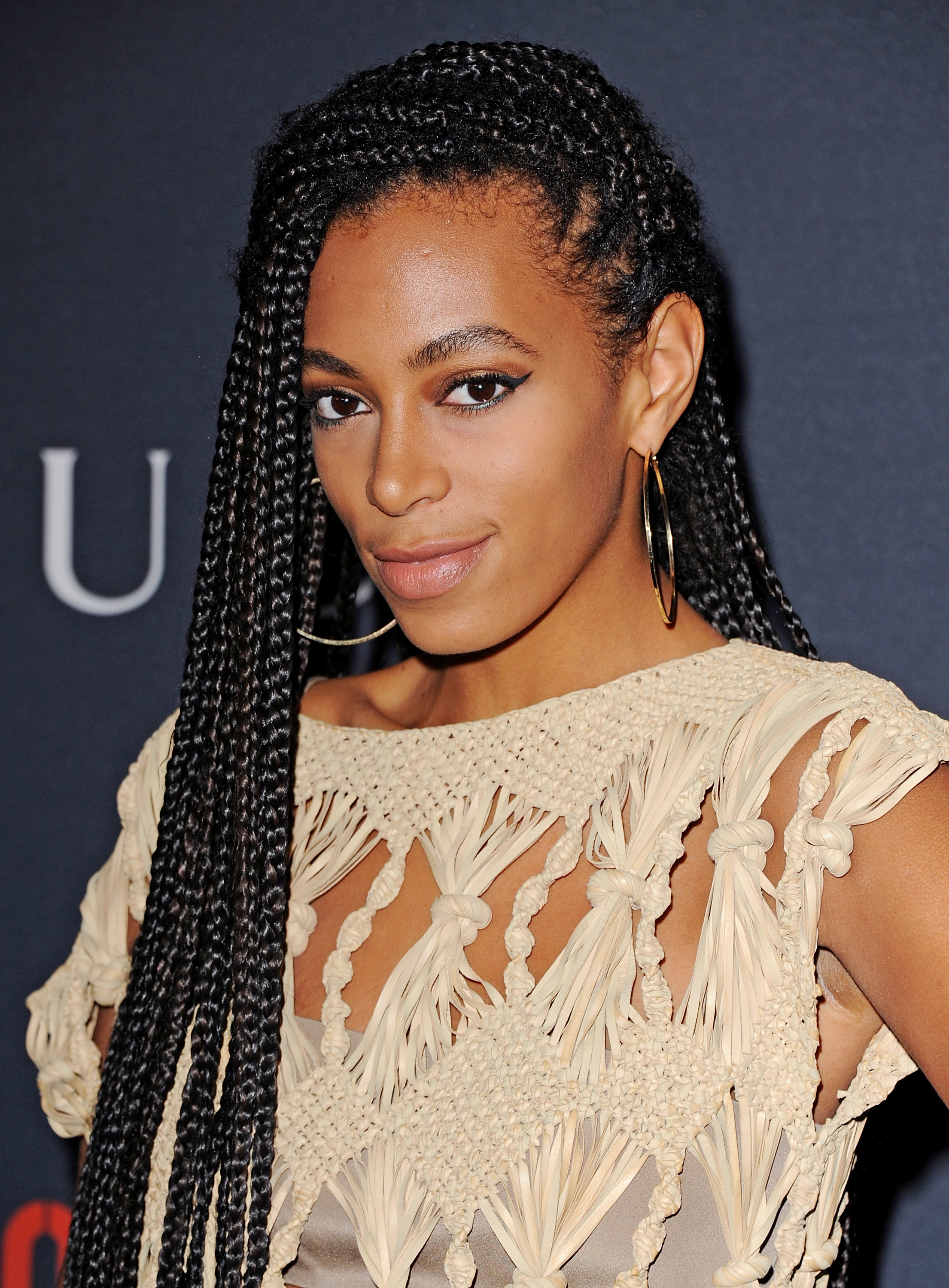 Solange iconic long box braids