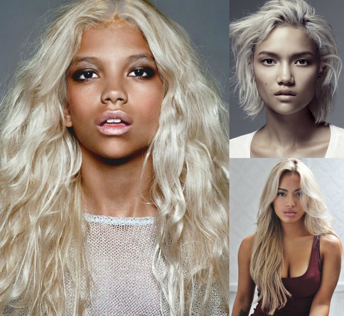 Amazing Effect Of Platinum Blonde On Dark Skin Hairdrome