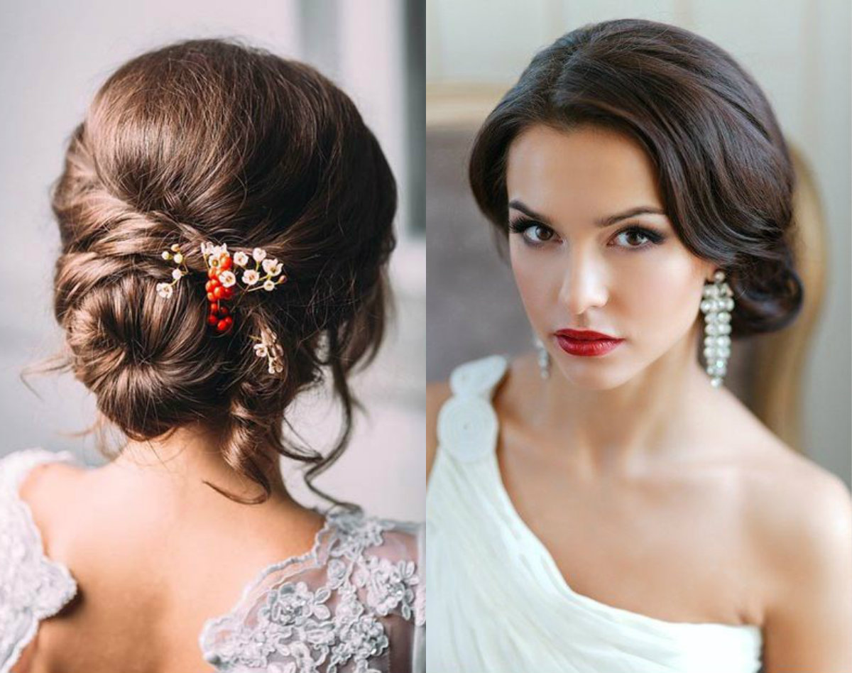 Romantic Low Bun Wedding Hairstyles 2017 | Hairdrome.com