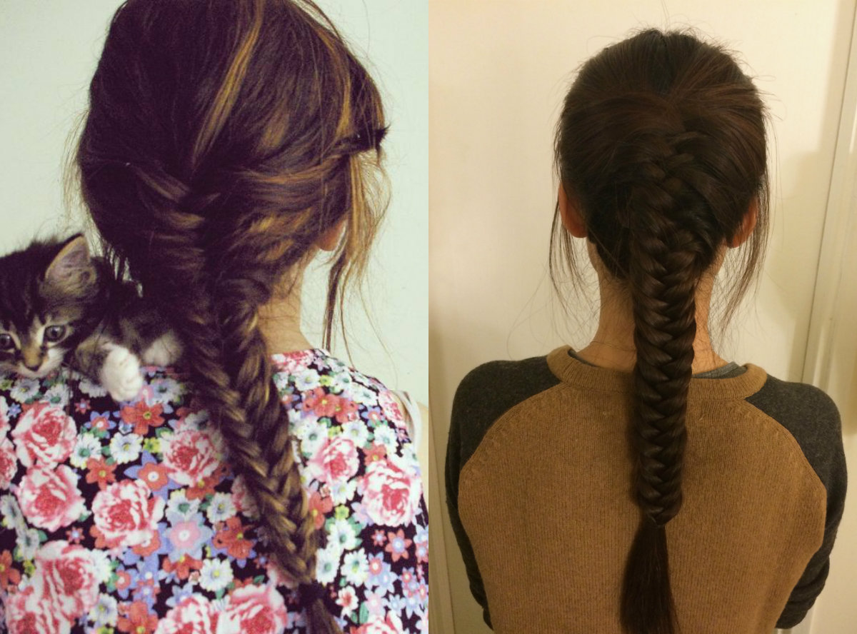 brunette-long-fishtail-braids