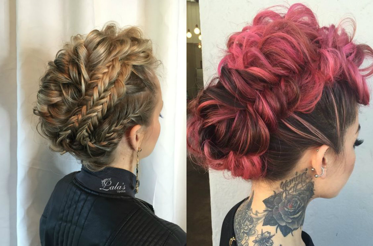 Expressive Women Braided Mohawk Hairstyles Hairdrome Com