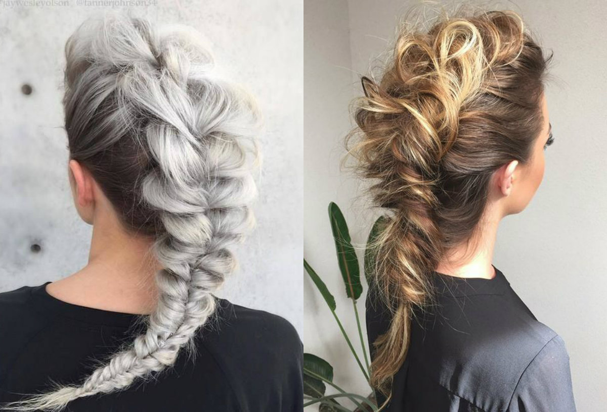 Expressive Women Braided Mohawk Hairstyles