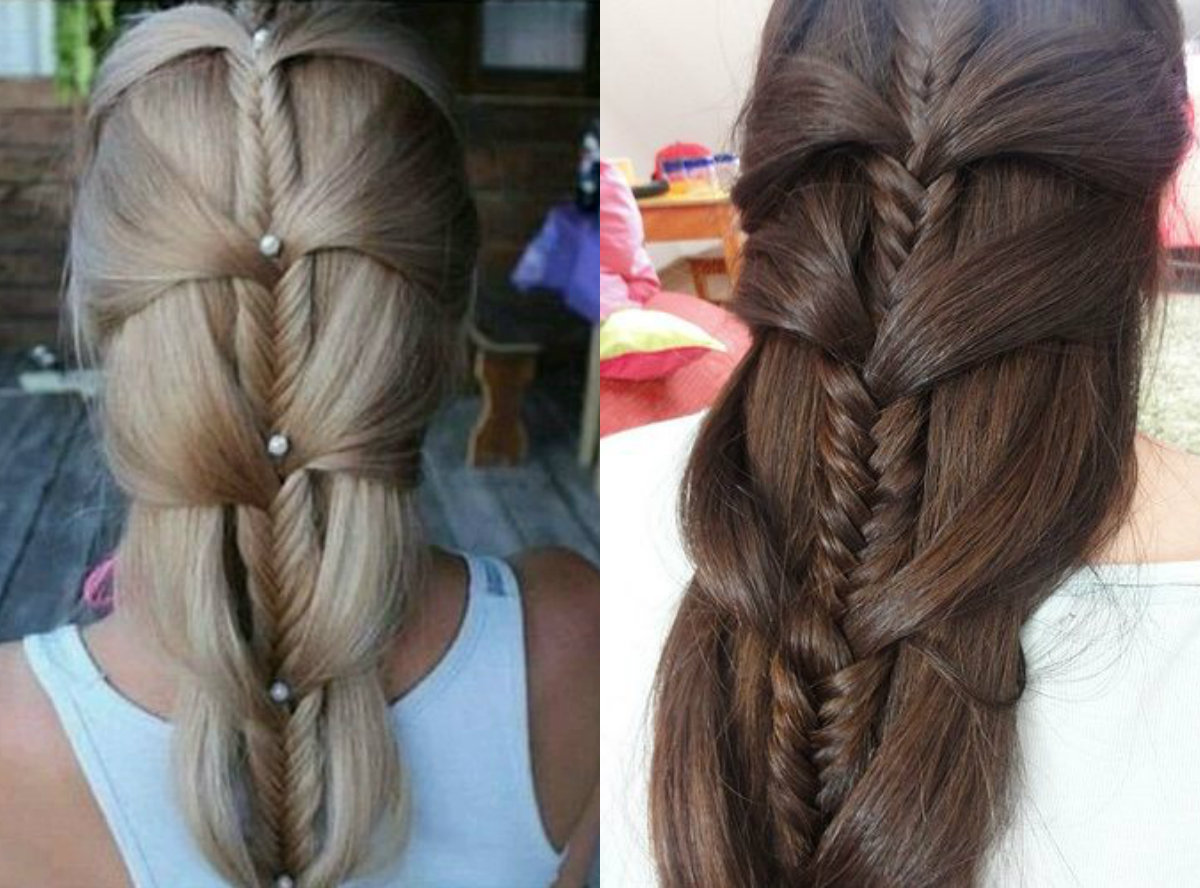 mermaid-fishbone-braids