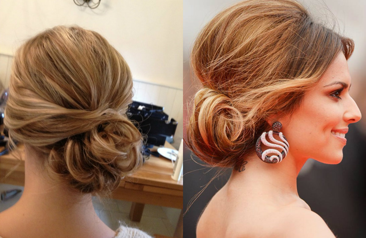 rolled-wedding-chignon-hairstyles-2017