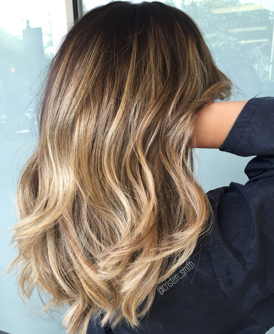 balayage-blonde-highlights-on-dark-hair
