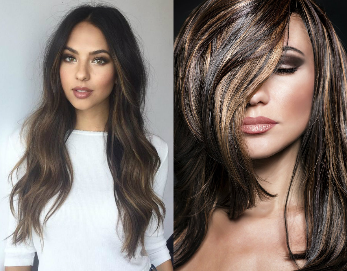 brunette-hair-colors-with-highlights