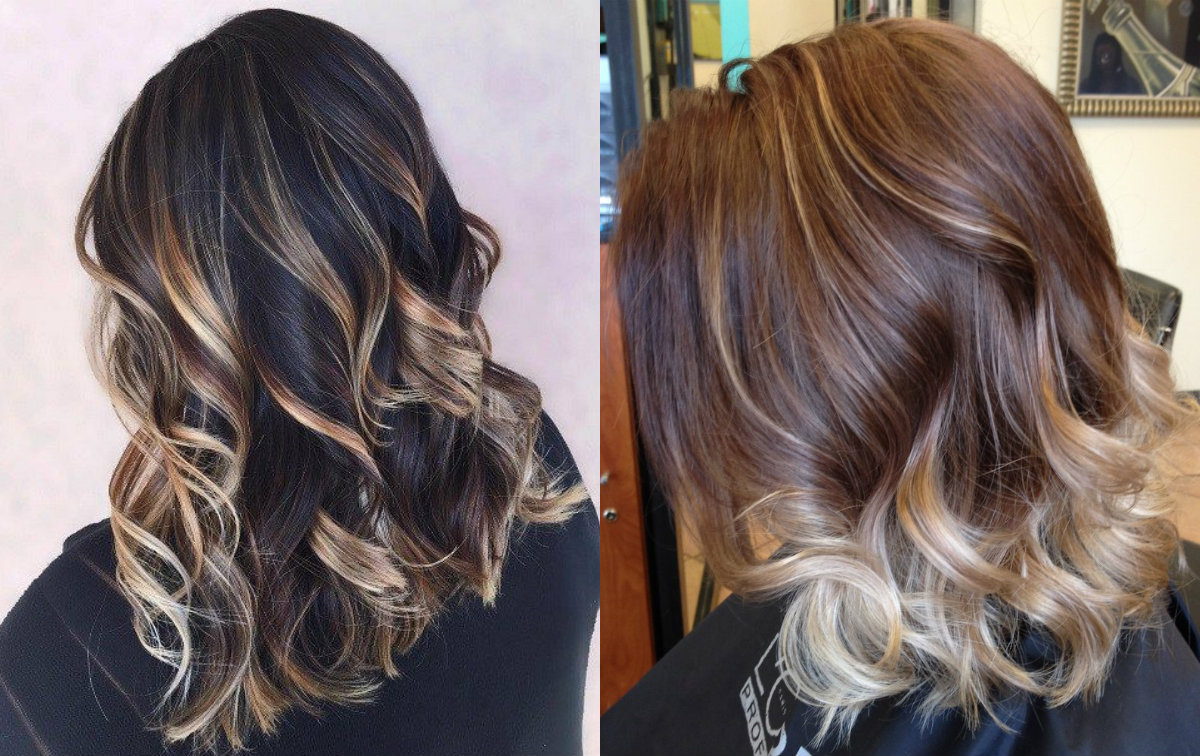 blonde hair with Dark highlights brown