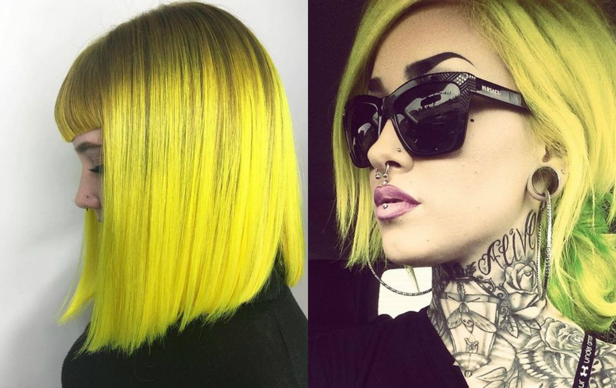 Fierce Yellow Hair Colors And Hairstyles Hairdrome Com