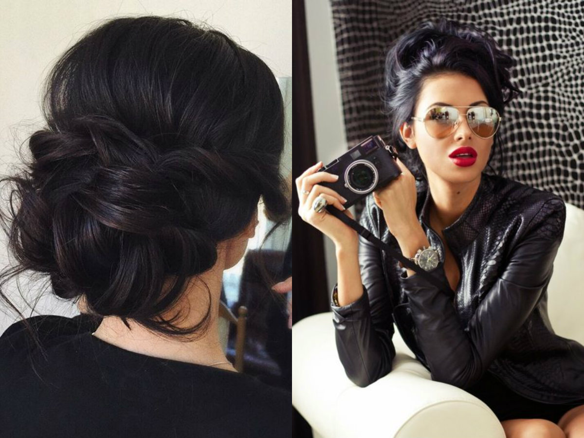 jet-black-updo-hairstyles-2017