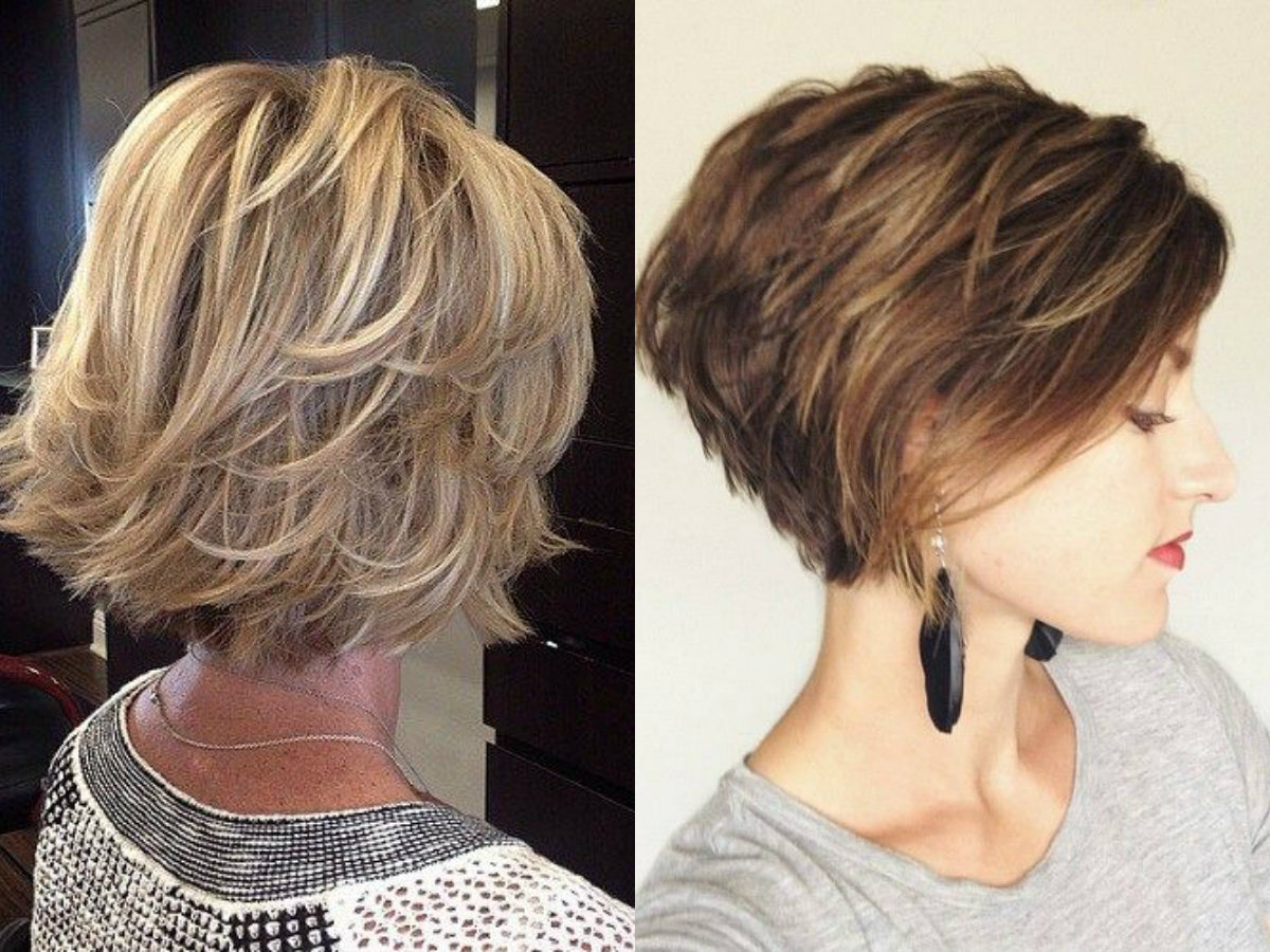 Bobbed Hair Styles: Layered Bob Haircuts Ideas For Thin Hair