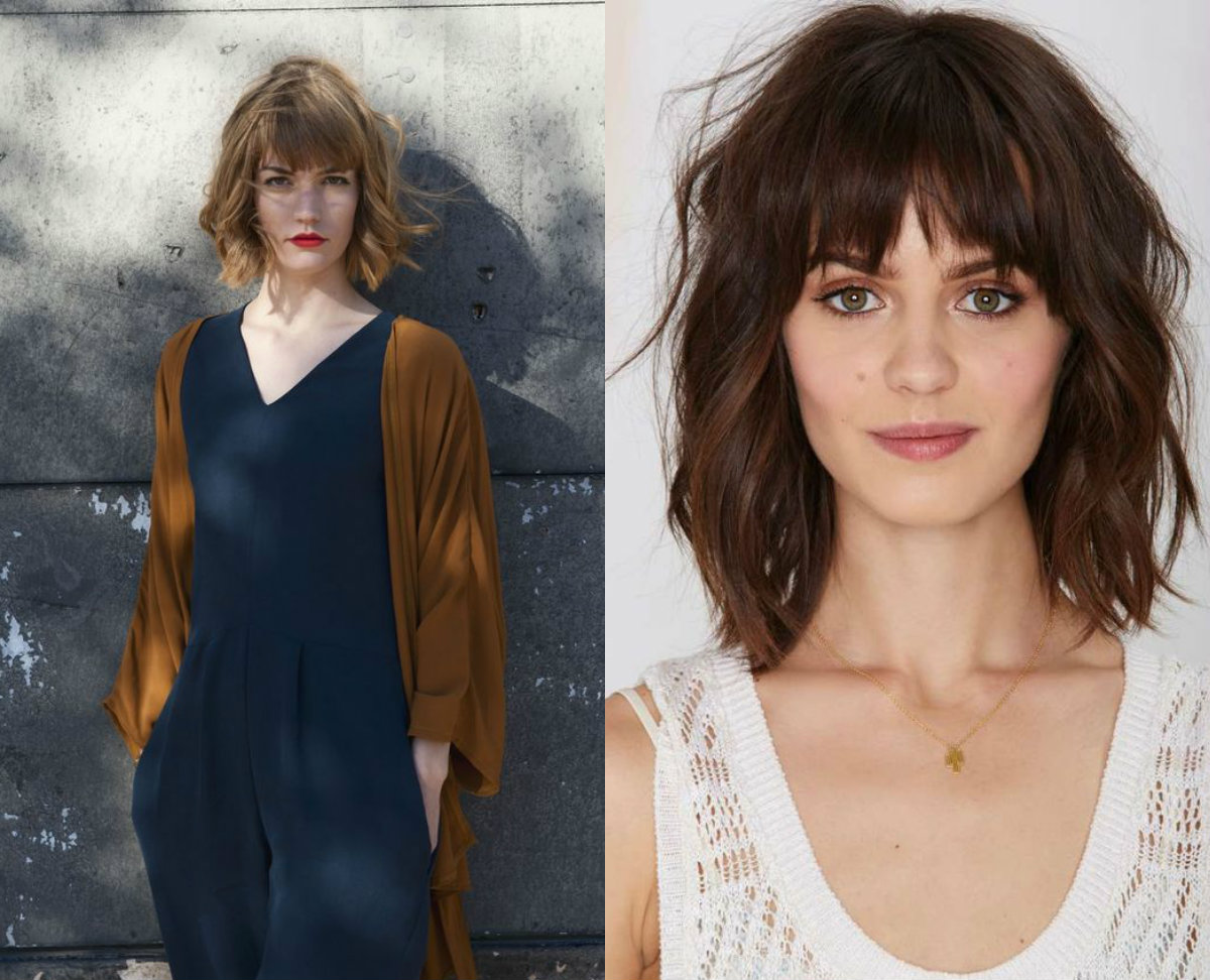 Messy Bob Hairstyles With Bangs 2017