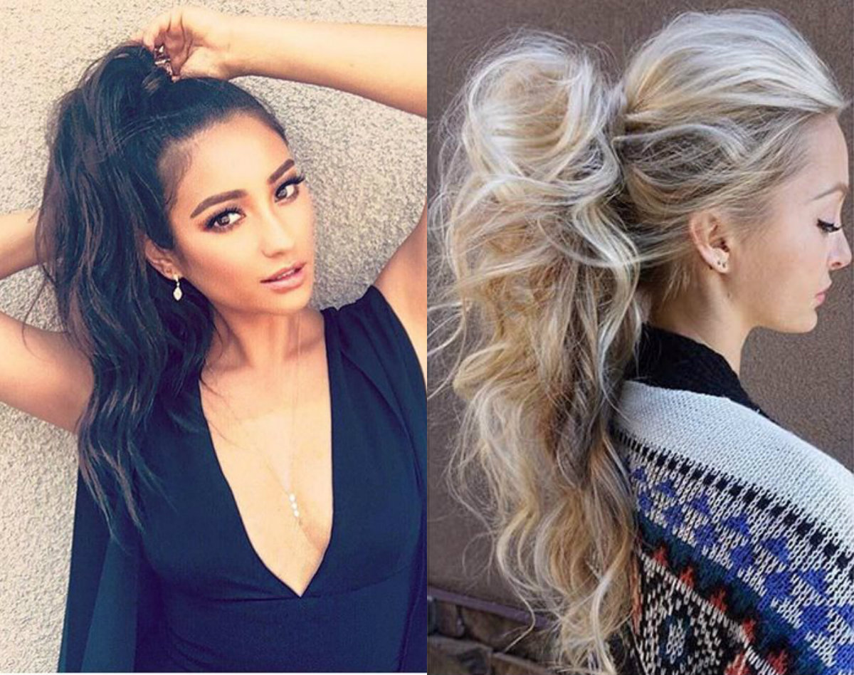 Messy Ponytail Christmas Party Hairstyles