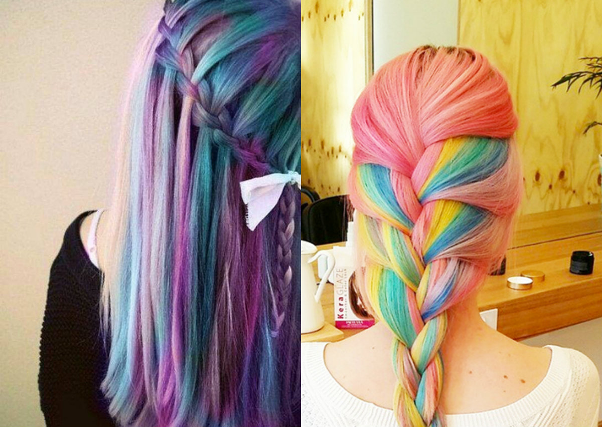 Multi Hair Color Styles: Striking Multi-Colored Braids Hairstyles