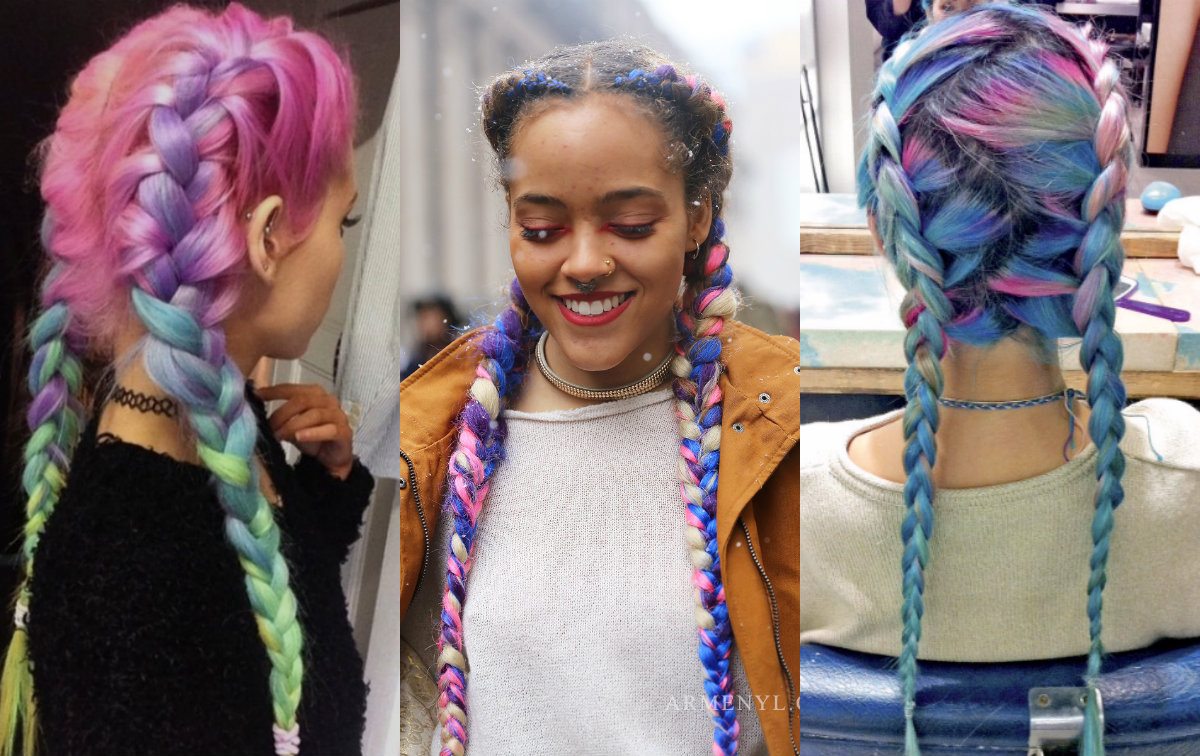 Striking Multi-Colored Braids Hairstyles | Hairdrome.com