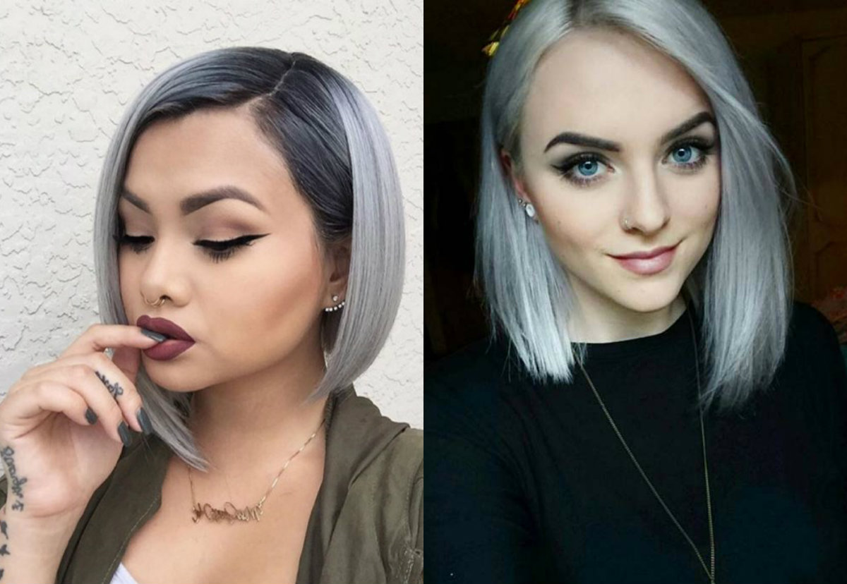Dare Try Ice Cold Silver Bob Hairstyles Hairdromecom - Silver hair styles