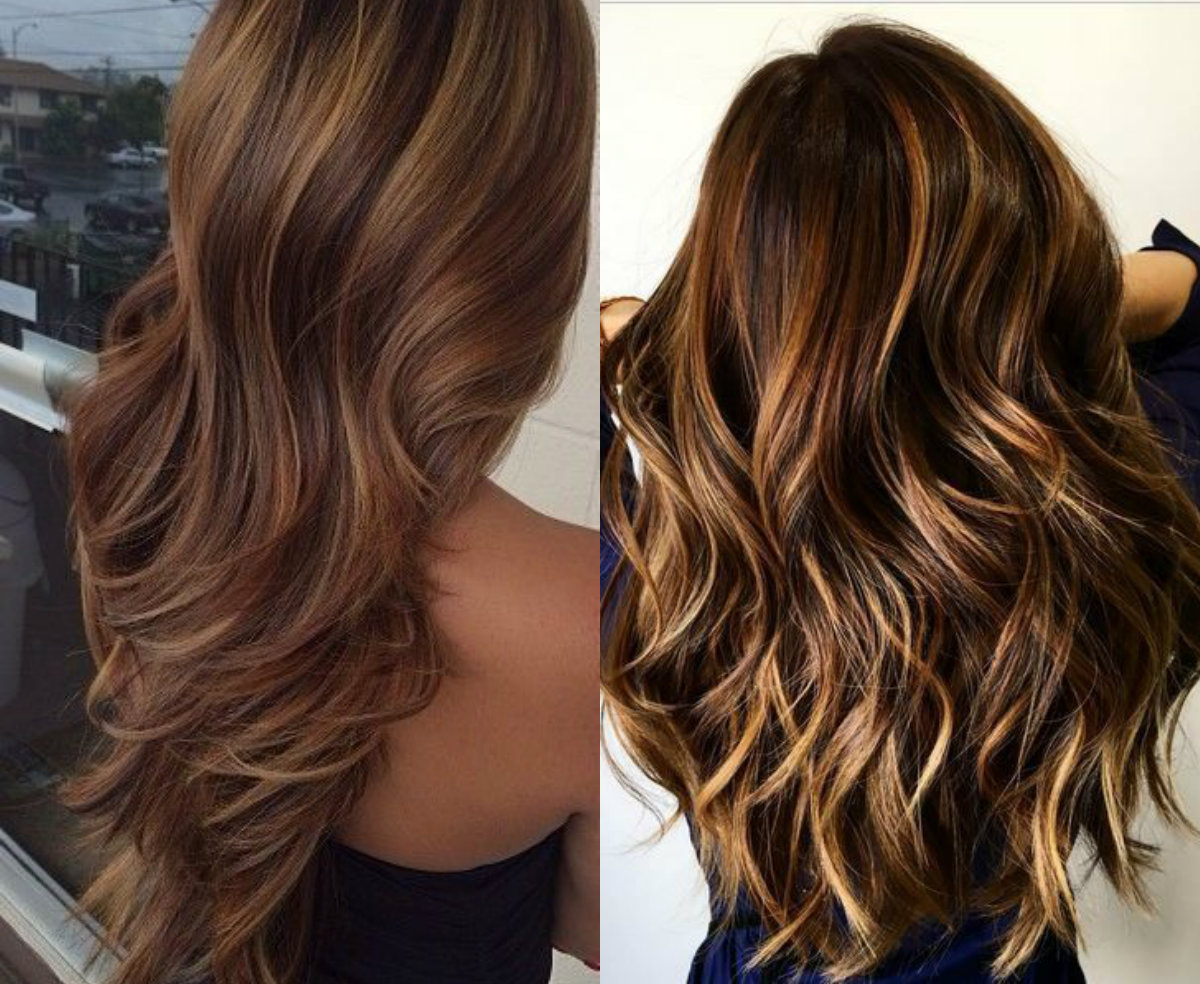 hypnotizing long brown hair with highlights hairdromecom
