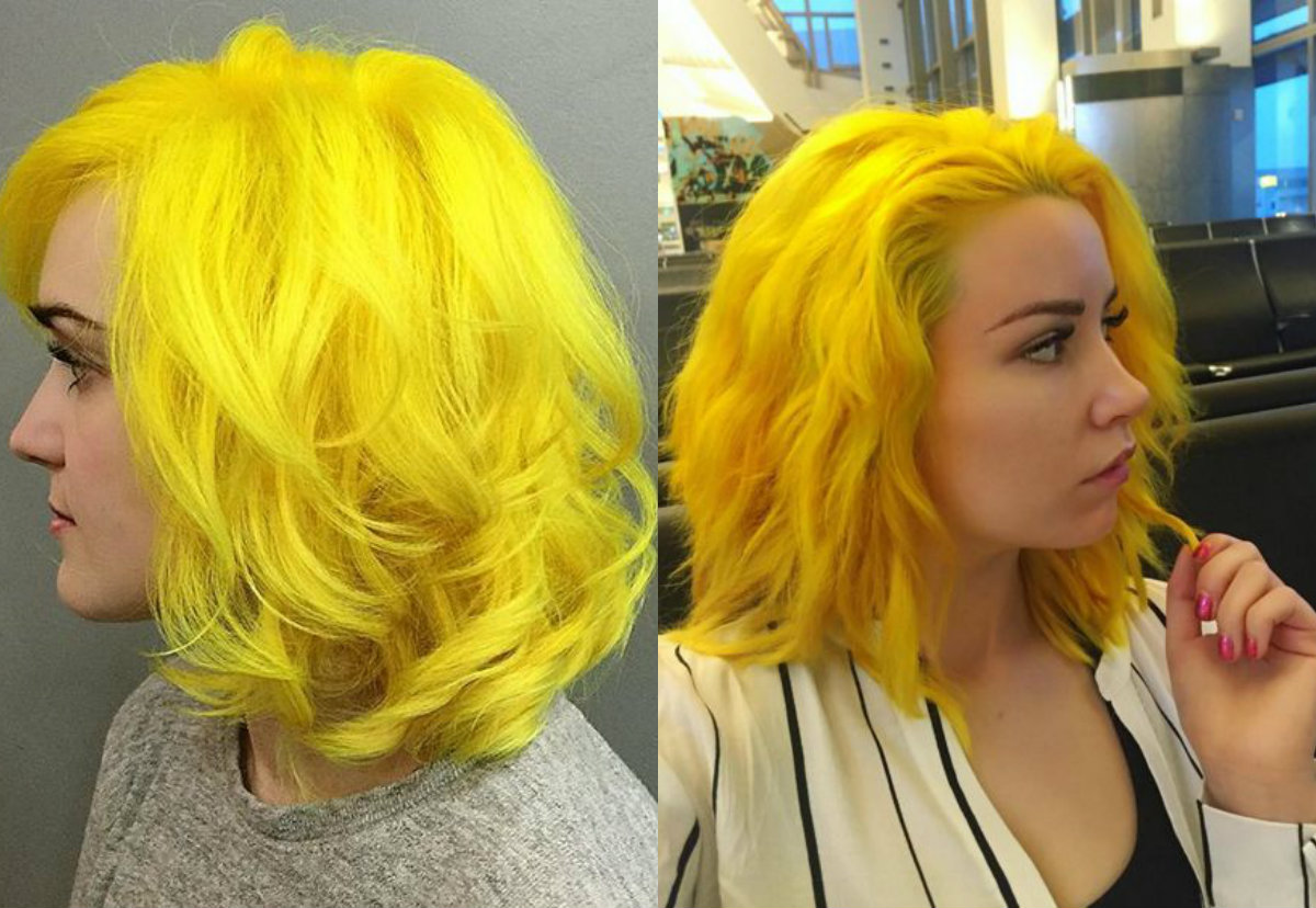 Fierce Yellow Hair Colors And Hairstyles Hairdrome