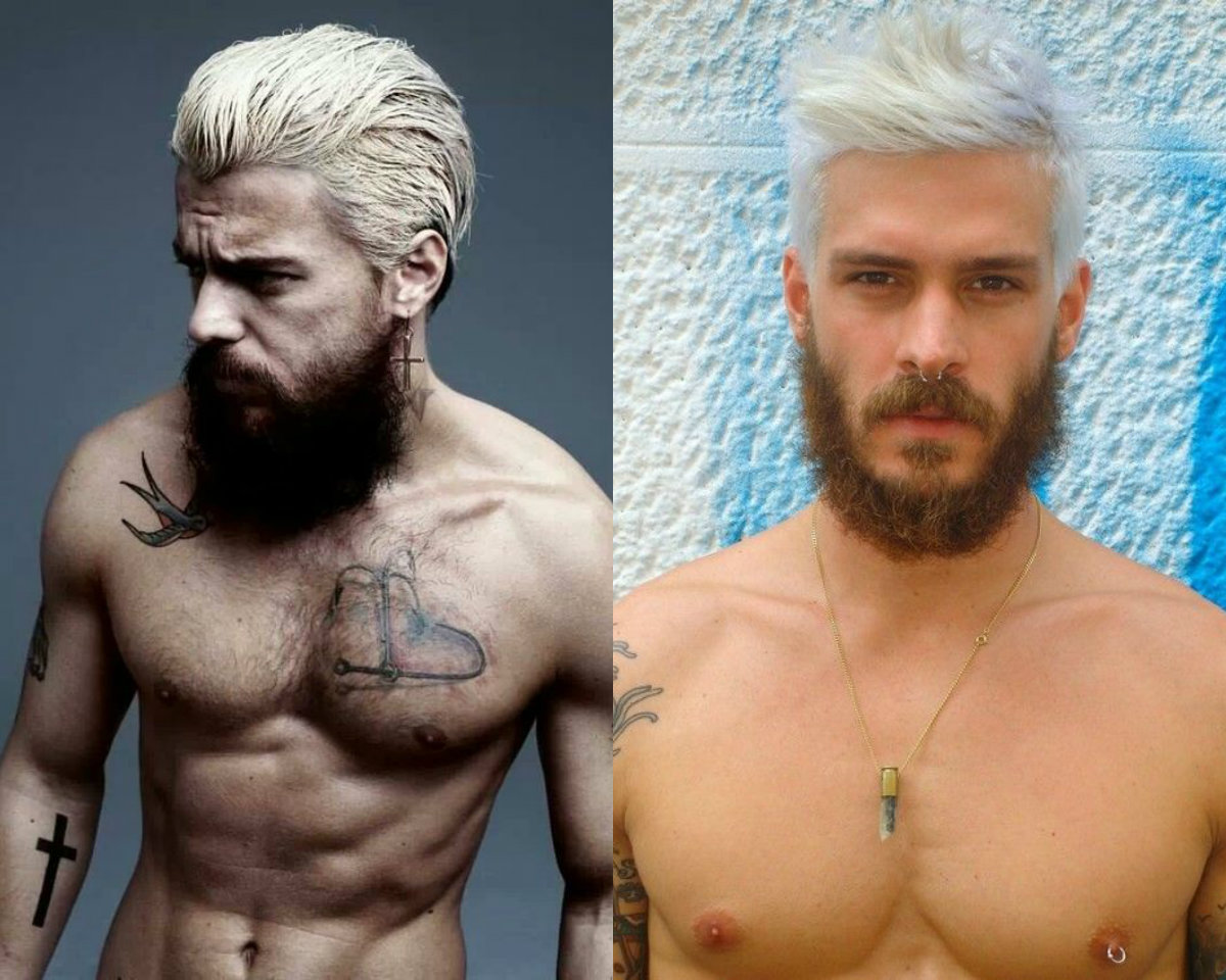 Beards Amp Male Platinum Blonde Hair Color Trends 2017