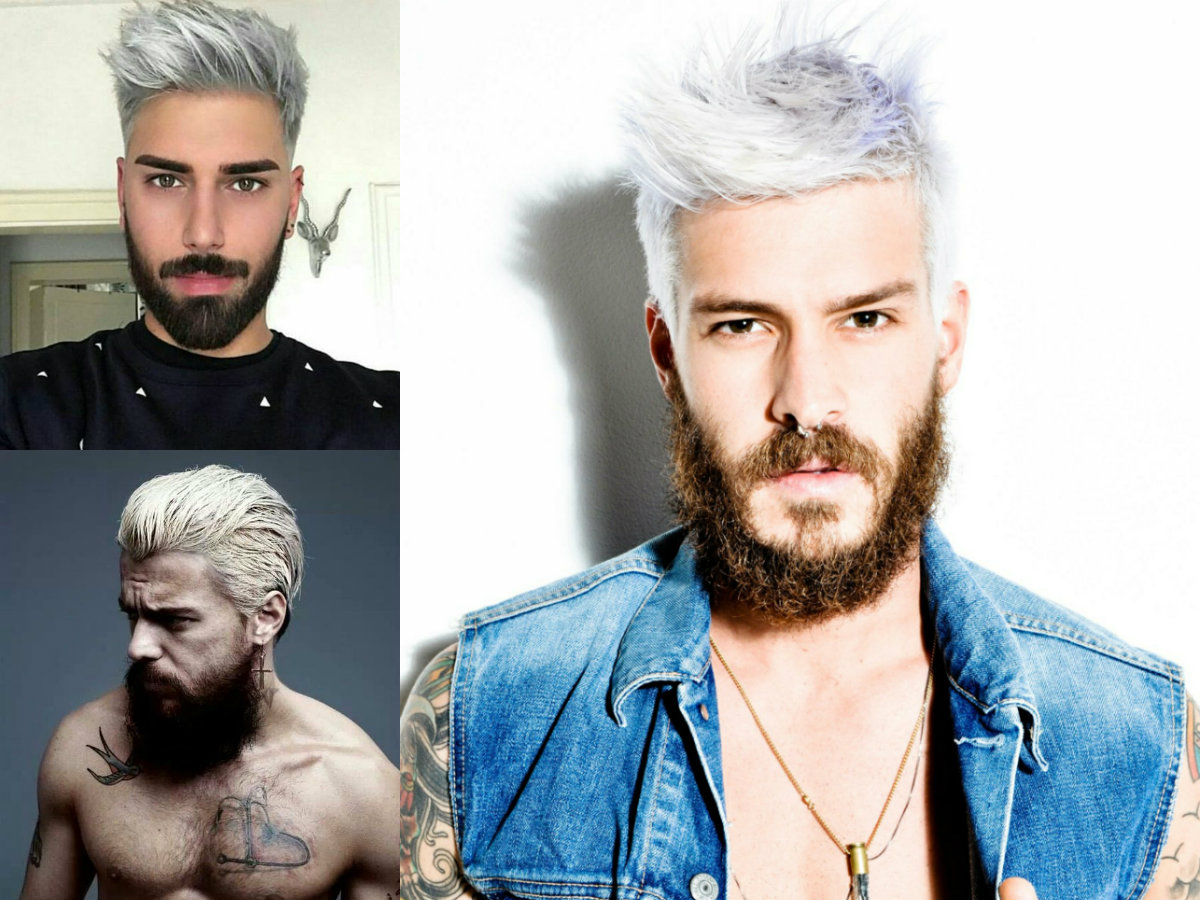 Beards Amp Male Platinum Blonde Hair Color Trends 2017 Hairdrome Com