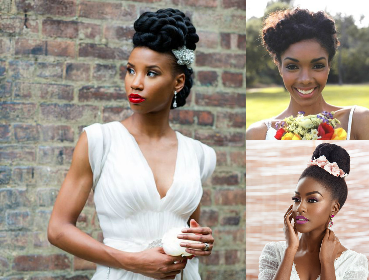 Black Women Natural Wedding Hairstyles 2017