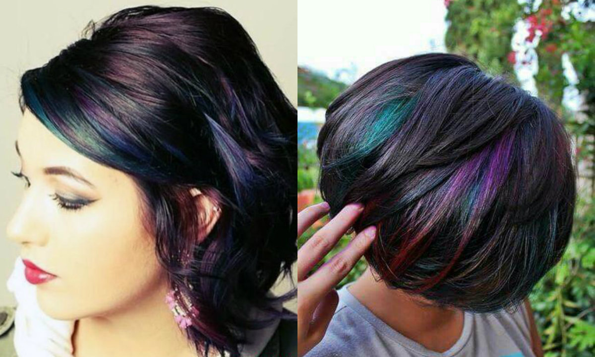 bob-cut-oil-slick-hair-colors-2017