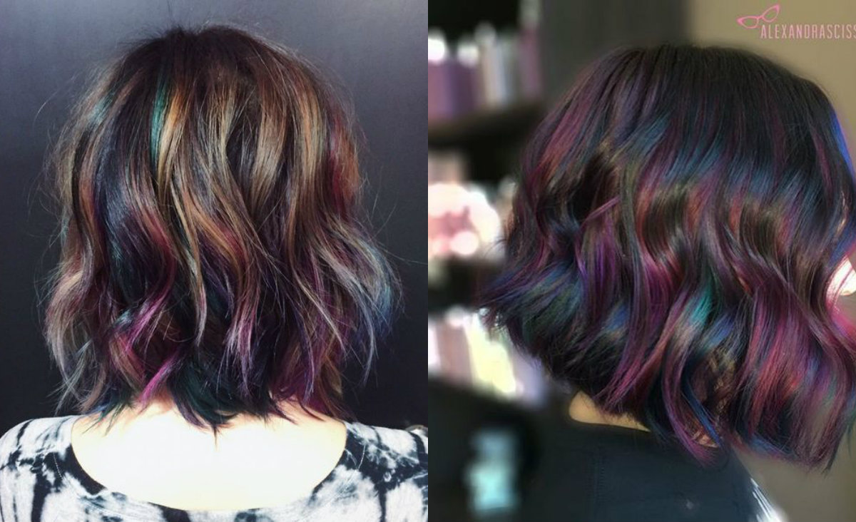 Admiring Brunettes Oil Slick Hair Colors 2017  Hairdrome