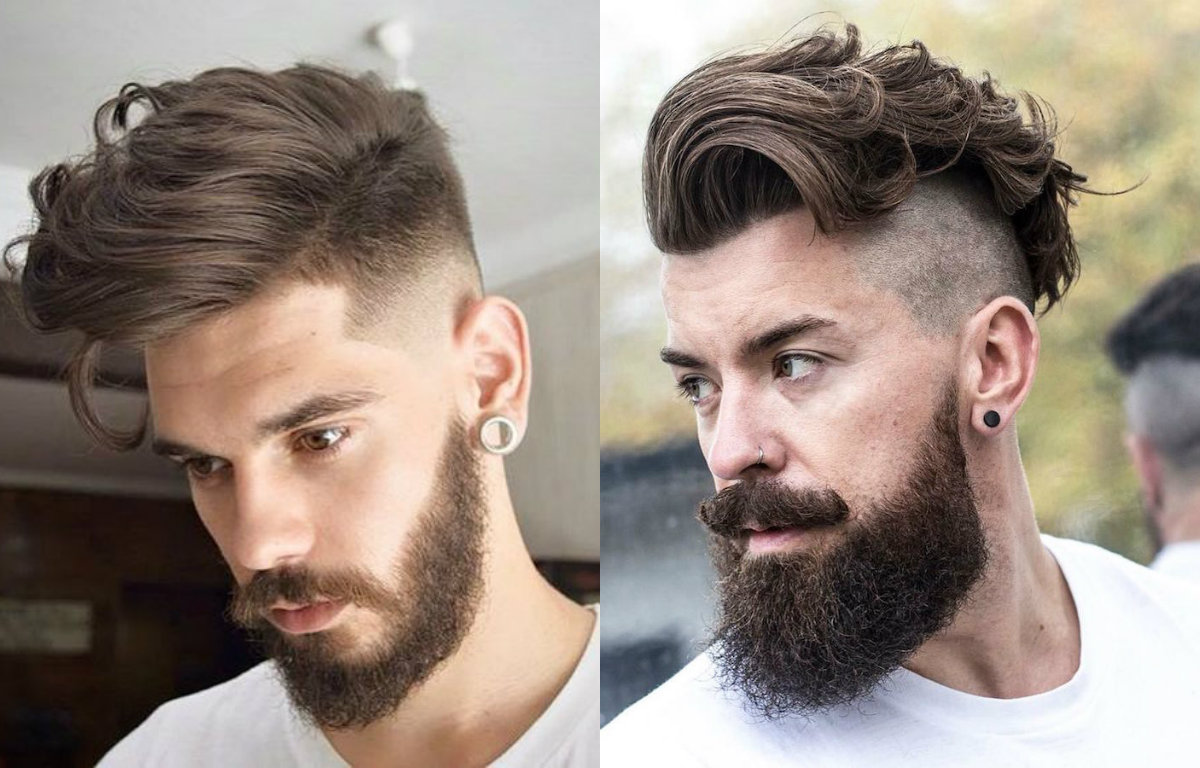 curly-mens-undercut-beard-styles-2017