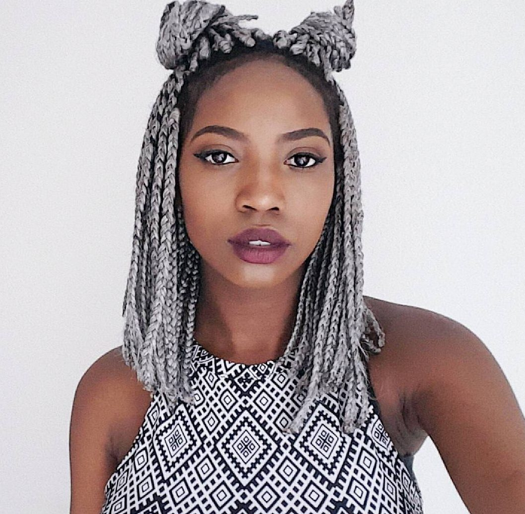 double-bun-for-short-box-braids-hairstyles
