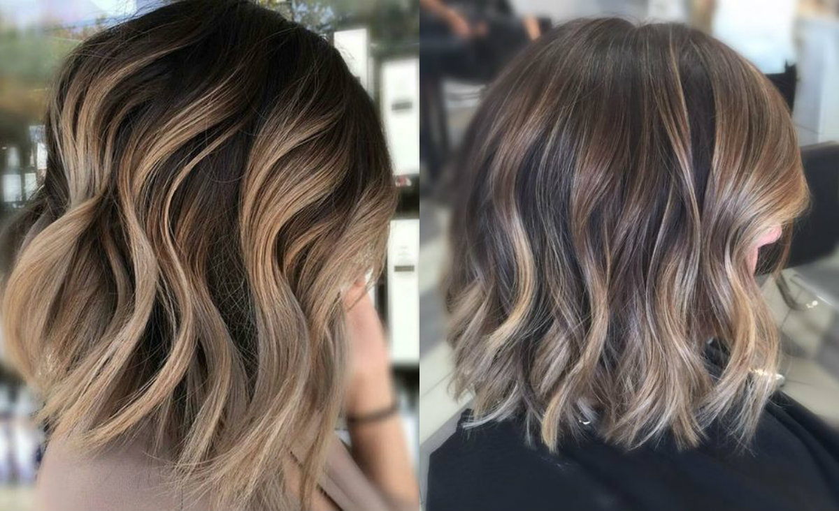 wavy-short-hair-balayage