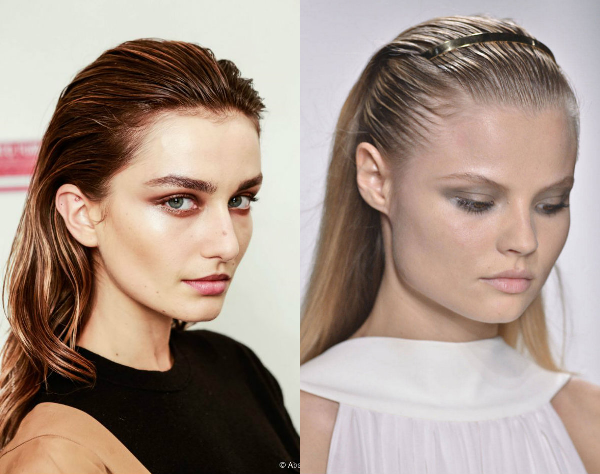 wet-effect-hair-trends-2017-spring