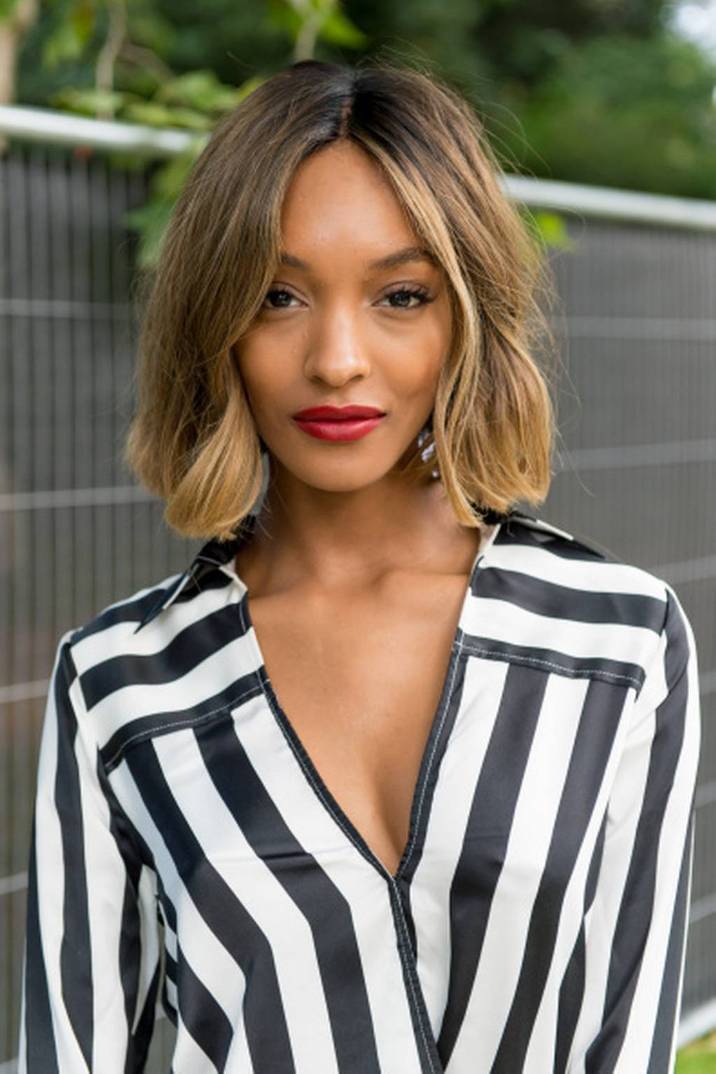 Jourdan Dunn center pat bob hairstyles