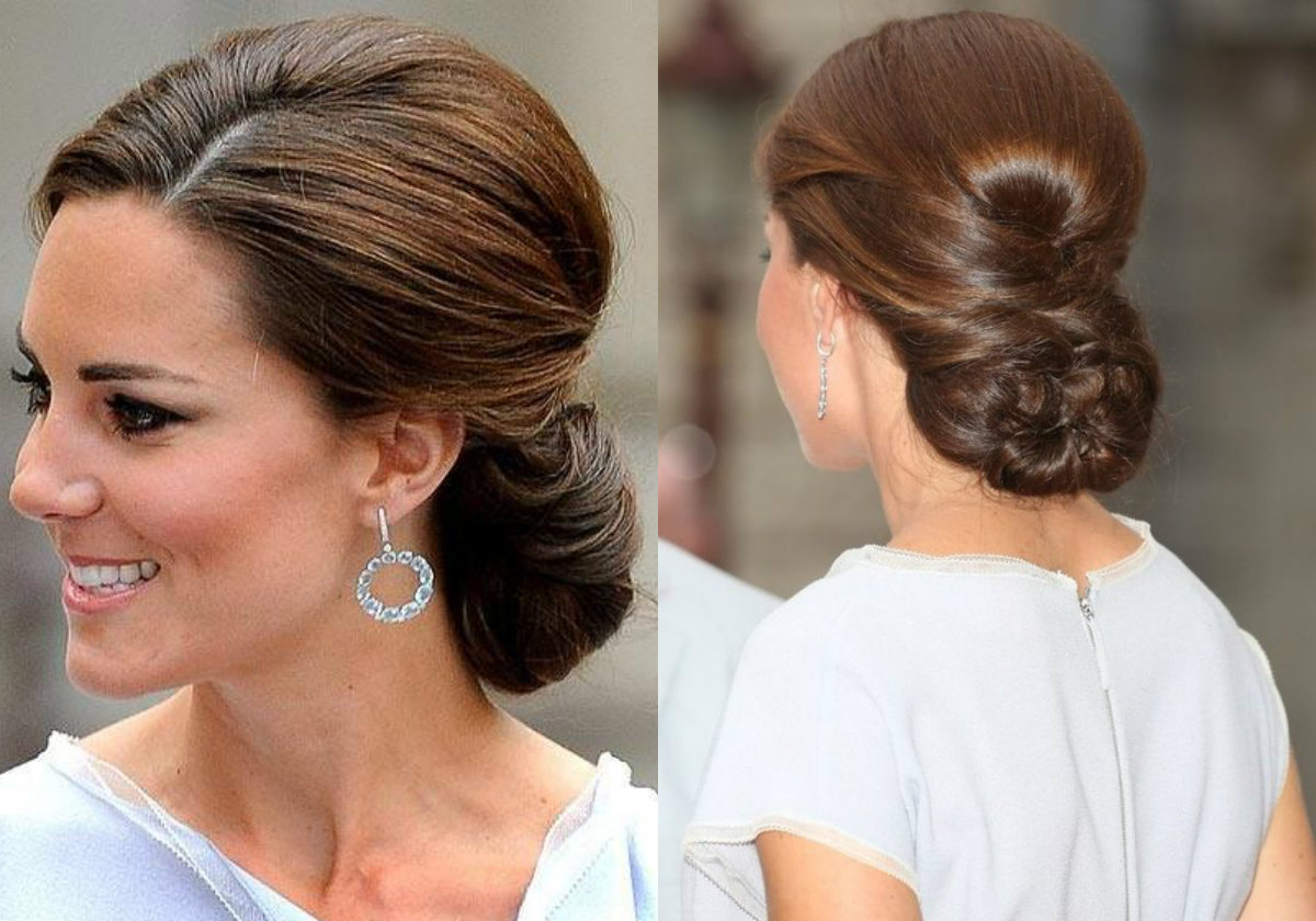 Kate Middleton elegant downdo hairstyles 2017
